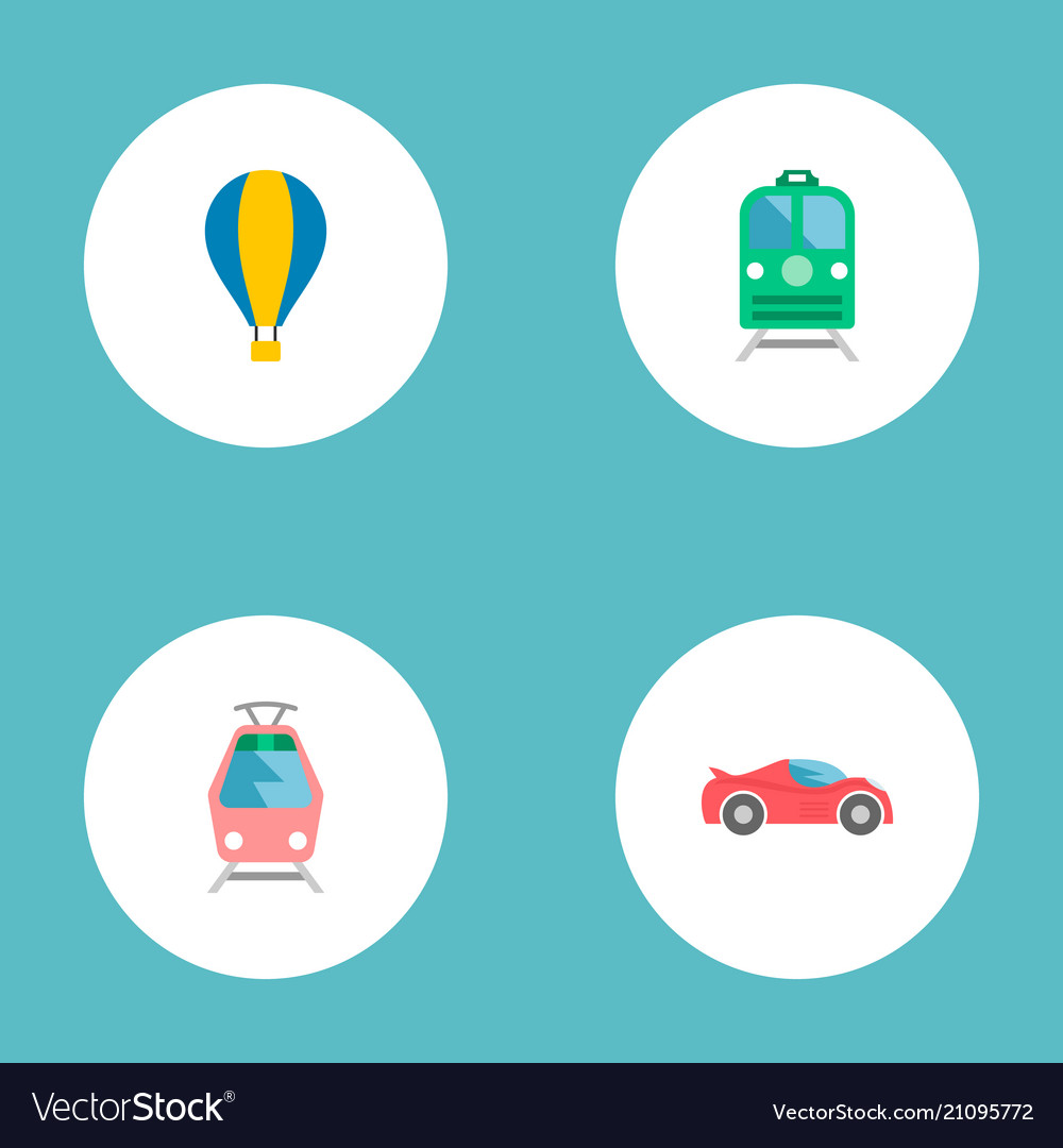 Set Of Auto Icons Flat Style Symbols With Sport Vector Image