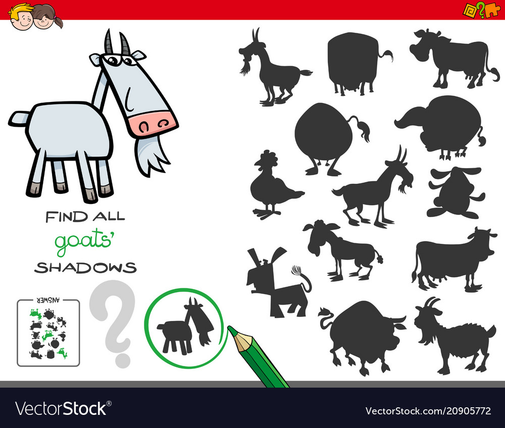 Shadows game with goats characters