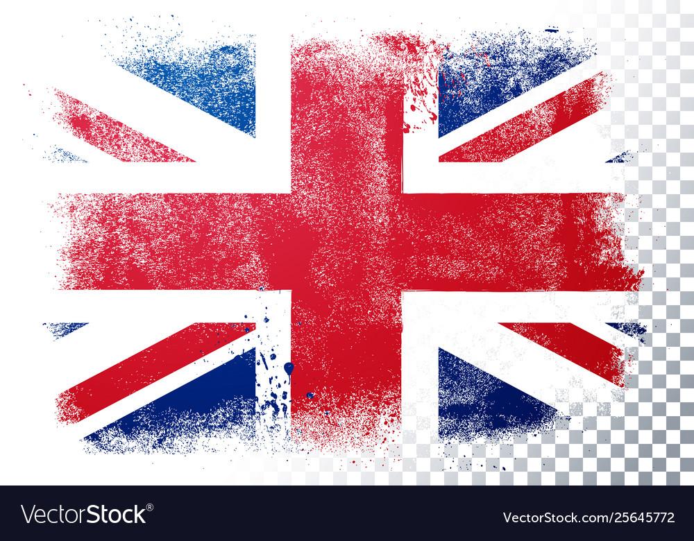 Vintage grunge texture flag great britain