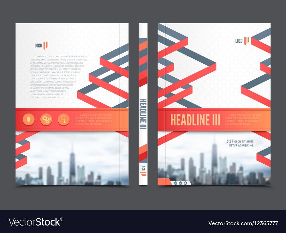 Annual Report Brochure Flyer Design vector image