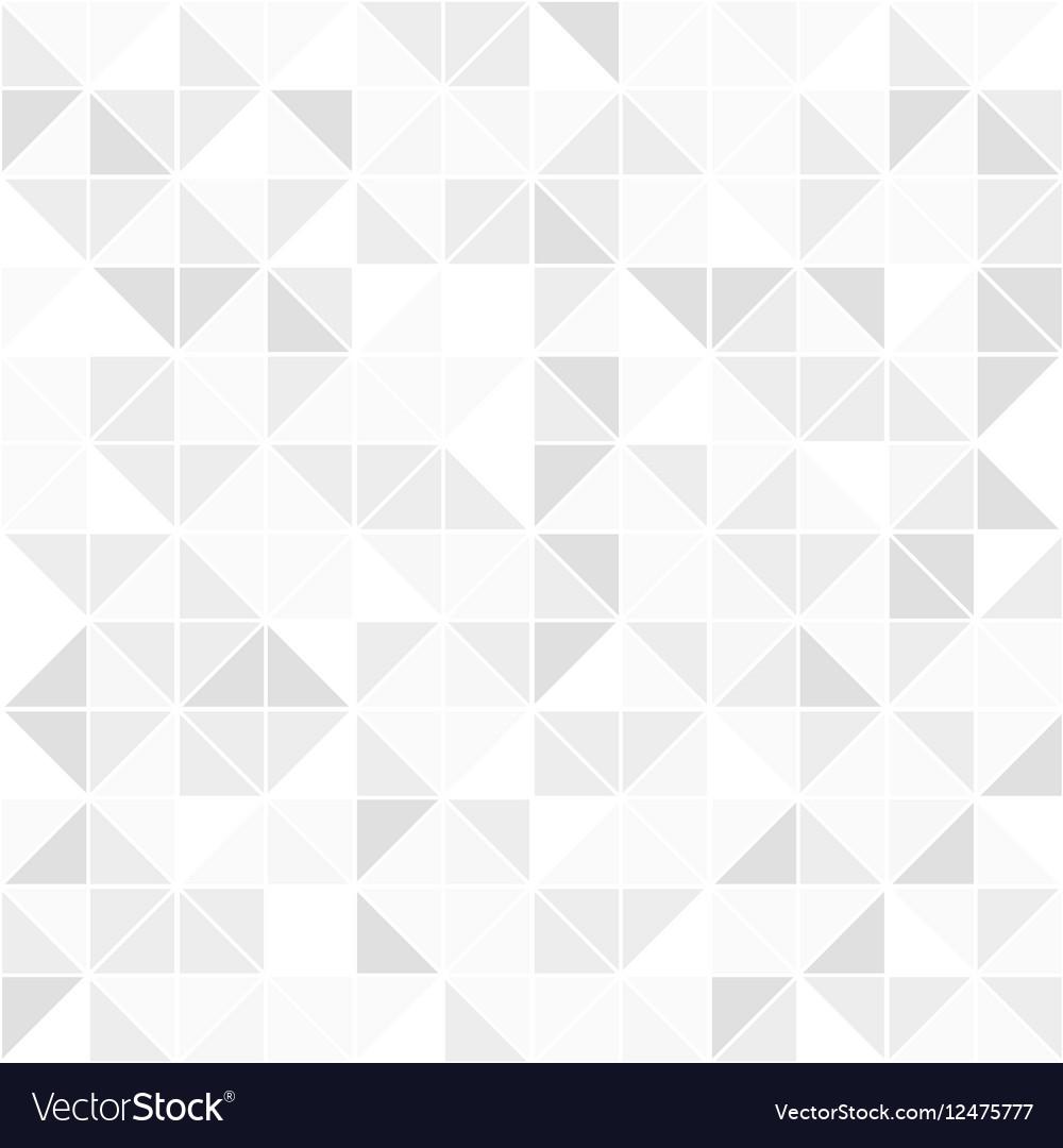 Gray geometric seamless pattern Mosaic background vector image