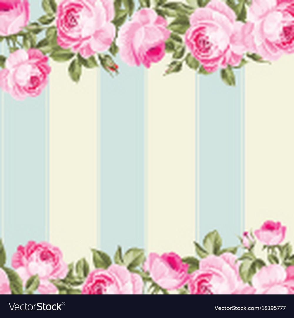 Ornate pink flower border royalty free vector image ornate pink flower border vector image mightylinksfo