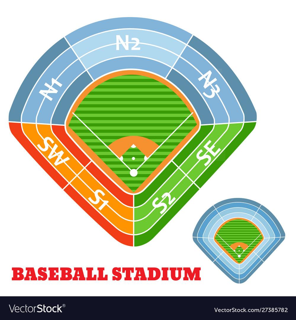 Baseball stadium scheme with zone