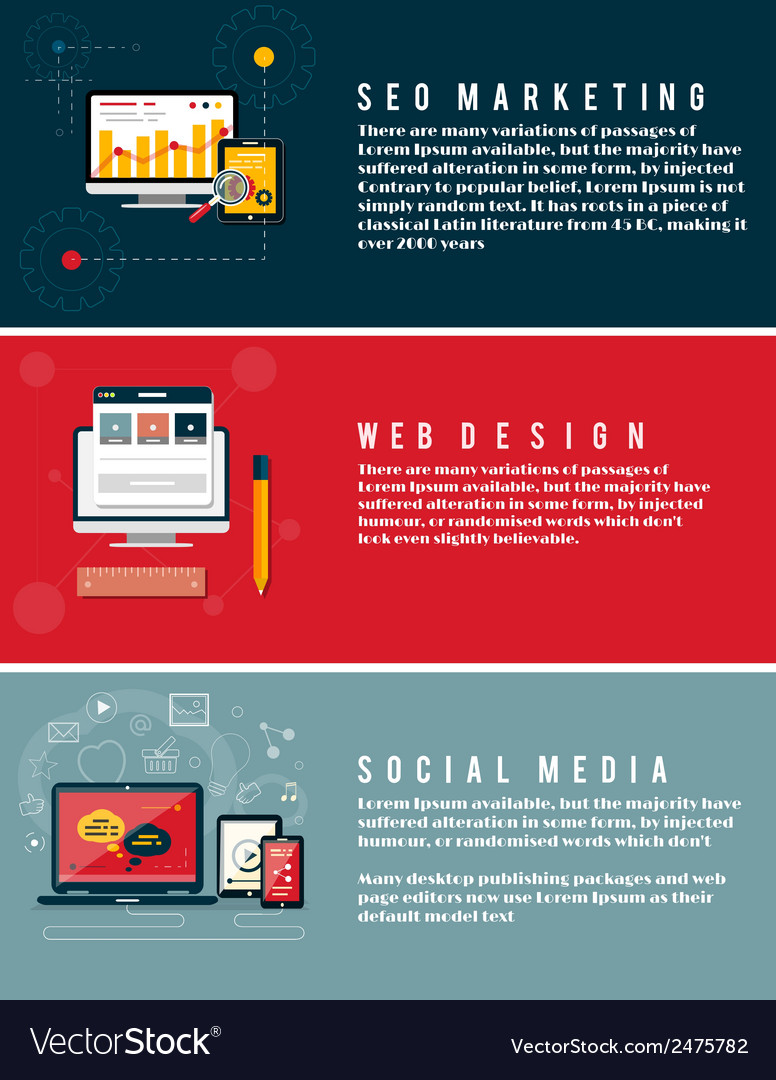 Icons for web design seo social media