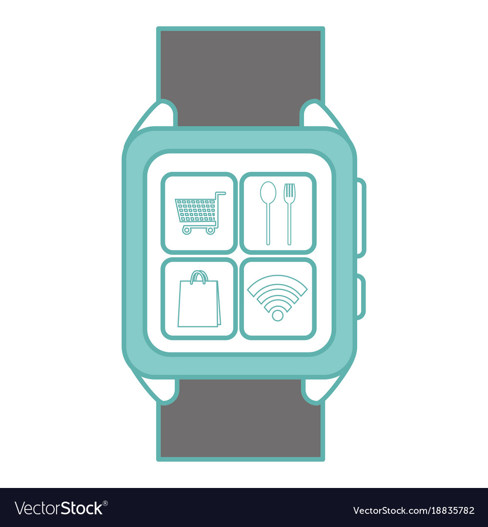 Isolated smartwatch design vector image on VectorStock