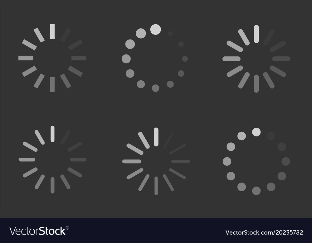 Loading signs load indicator icons
