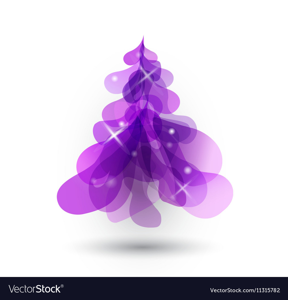 Purple Christmas Tree With Blurred