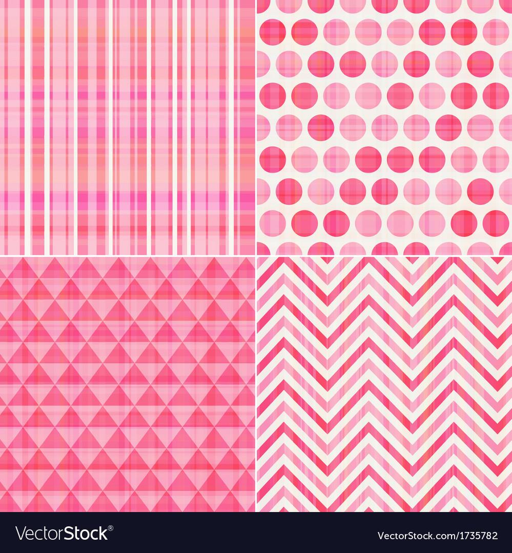 Seamless geometric pink pattern