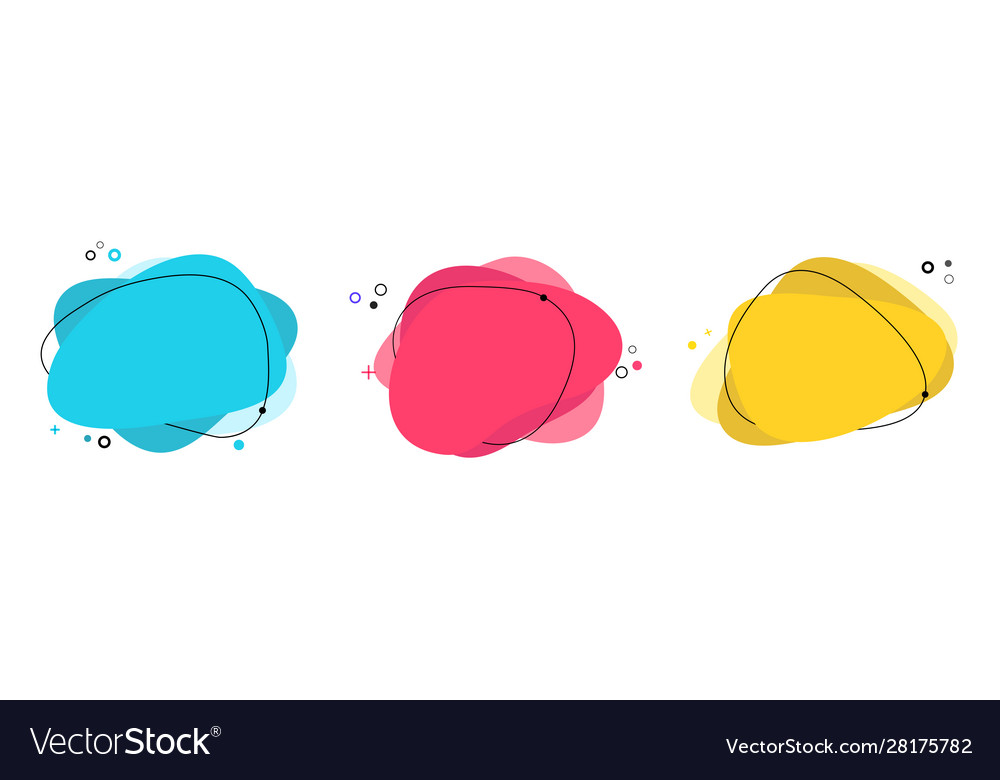 Set abstract modern graphic elements gradient