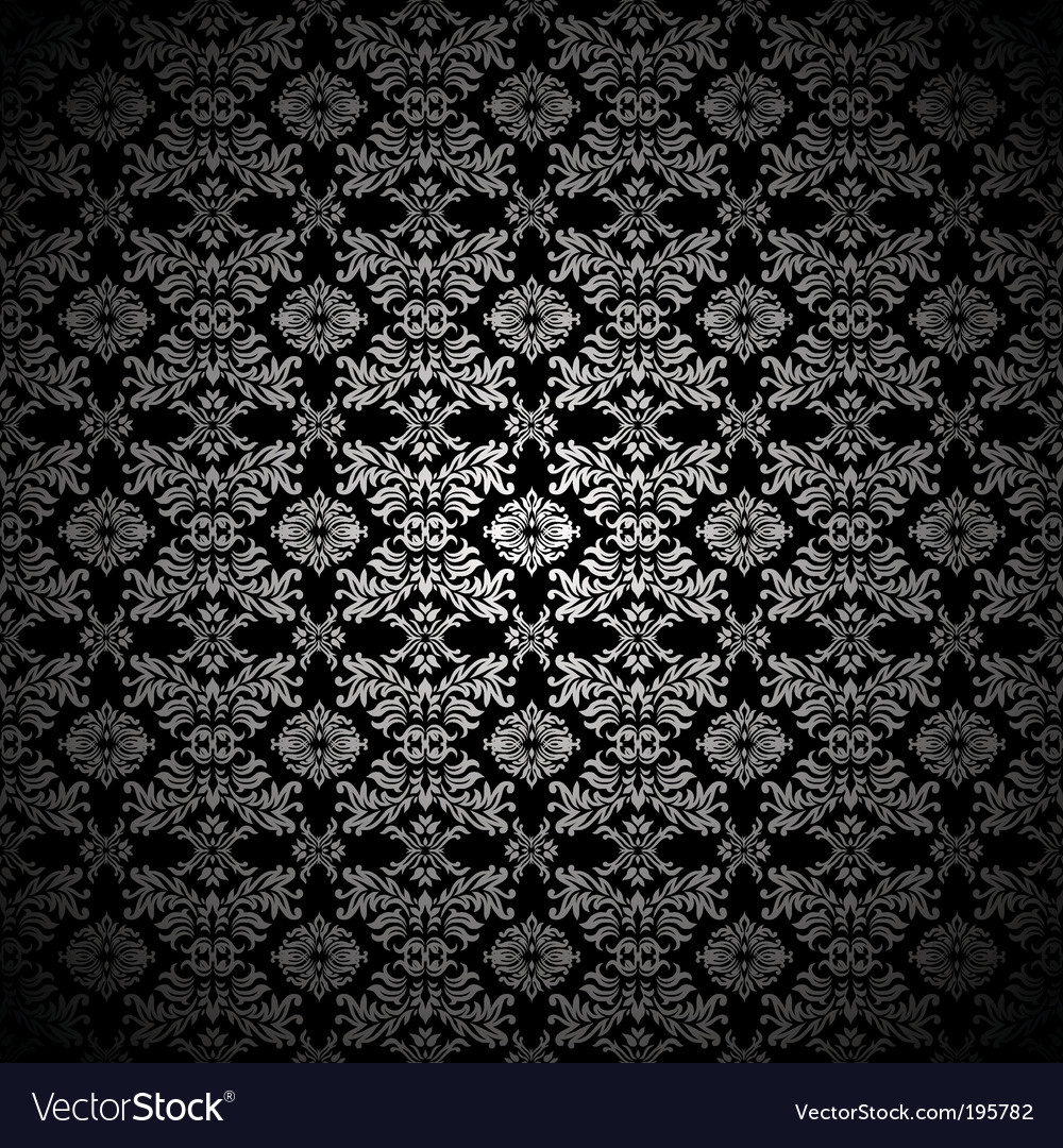Silver leaf wallpaper vector image