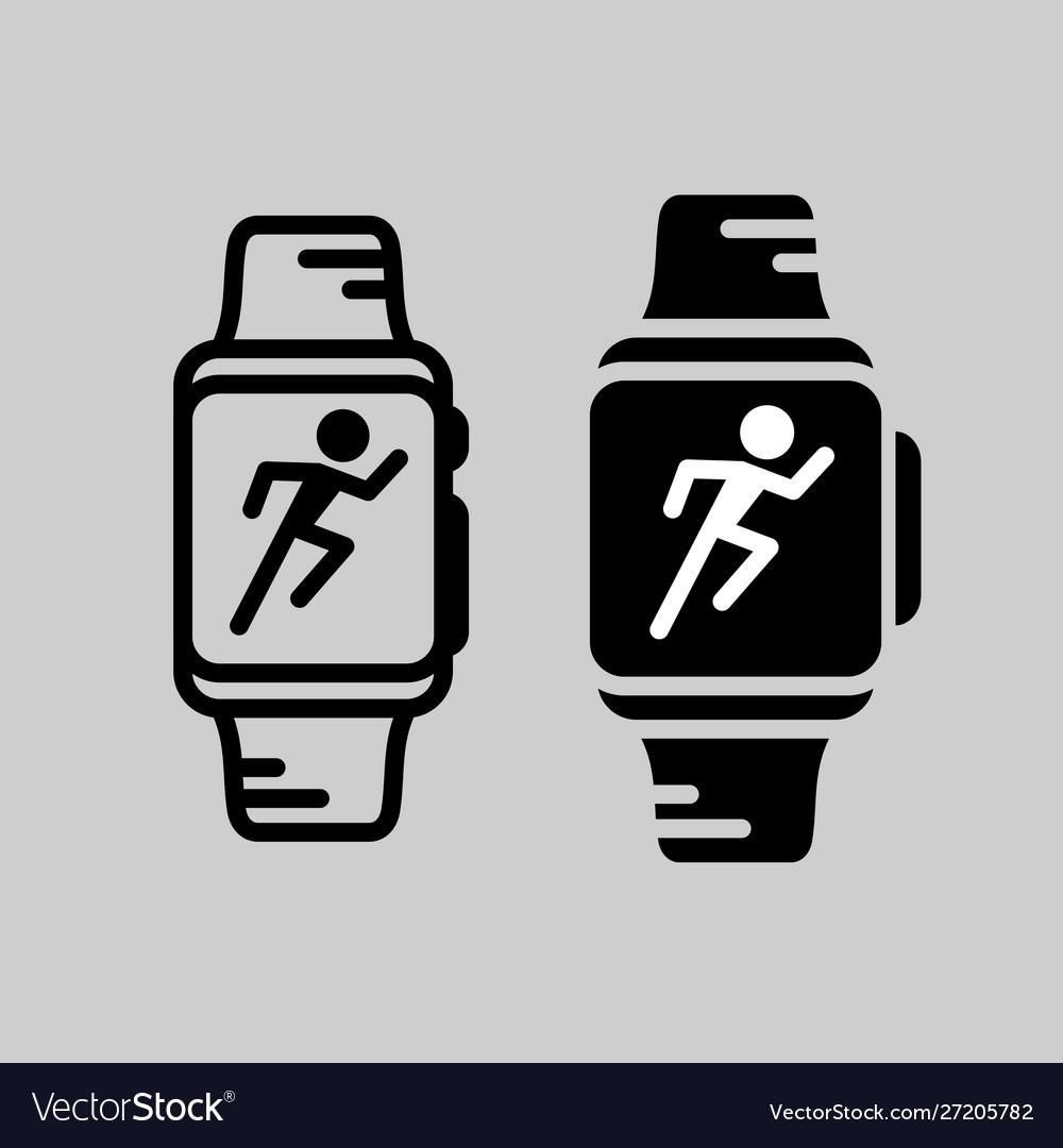 Smartwatch training icon runner athlete