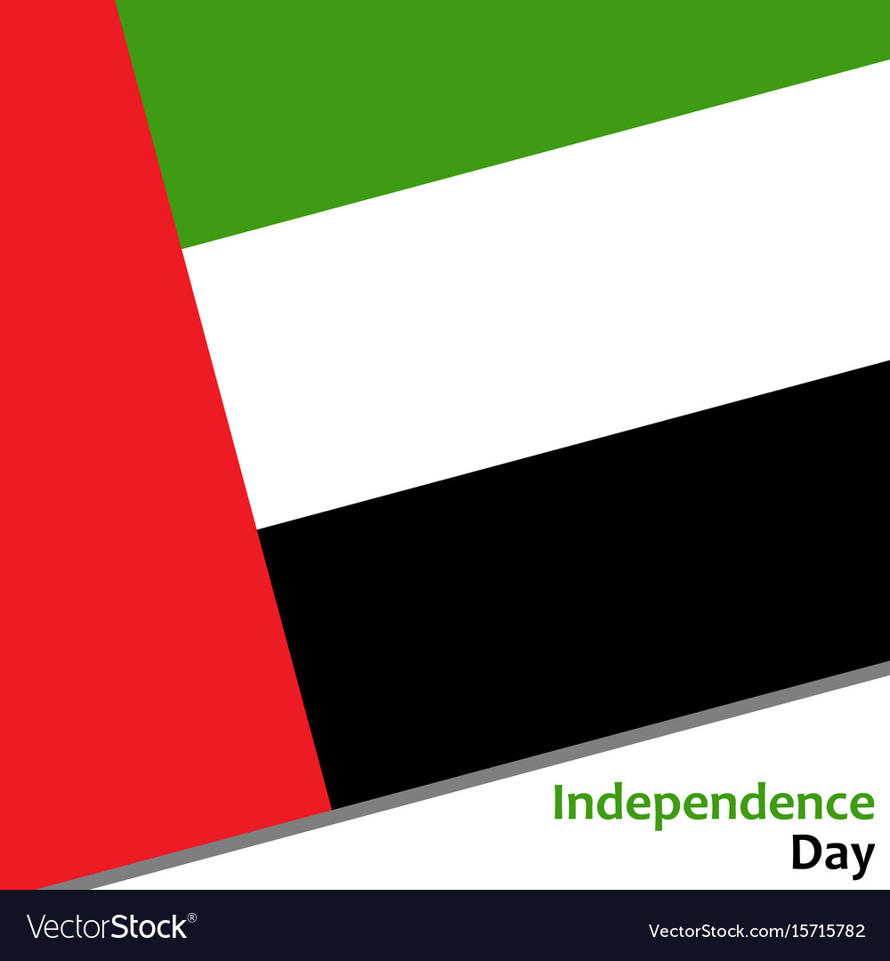 United arab emirates independence day vector image