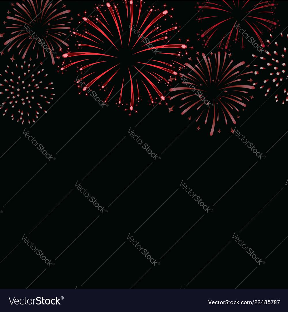 Firework sparkle background card beautiful bright