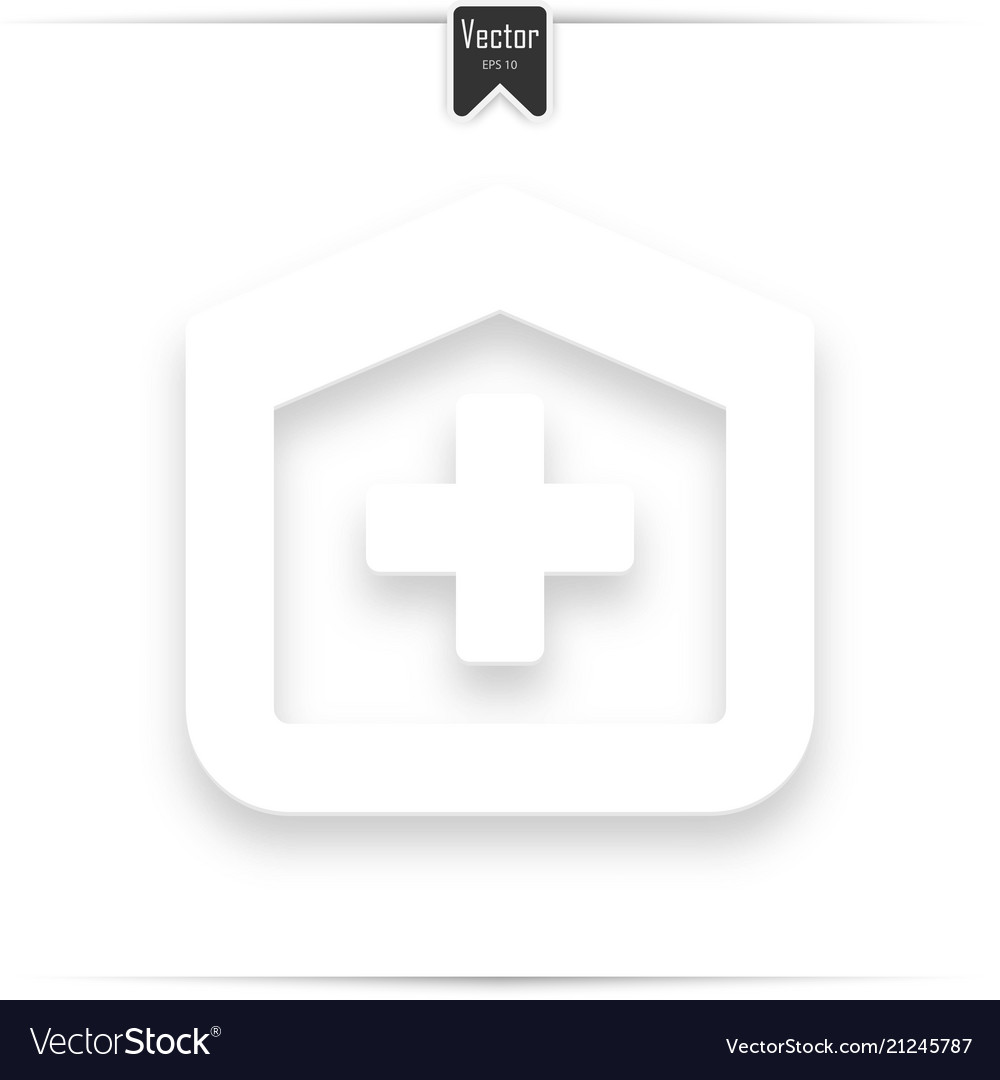 Hospital design over white background