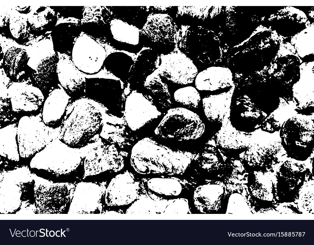 Sea stones background black and white