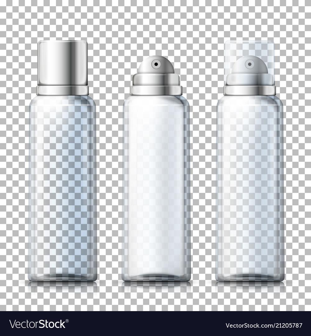Set - 3d realistic foam bottles with caps