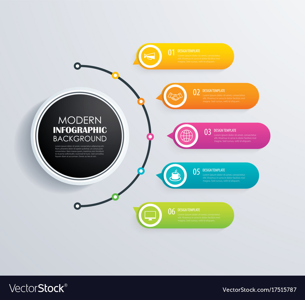 Infographic Design   Timeline 5 Infographic Design And Marketing Vector Image