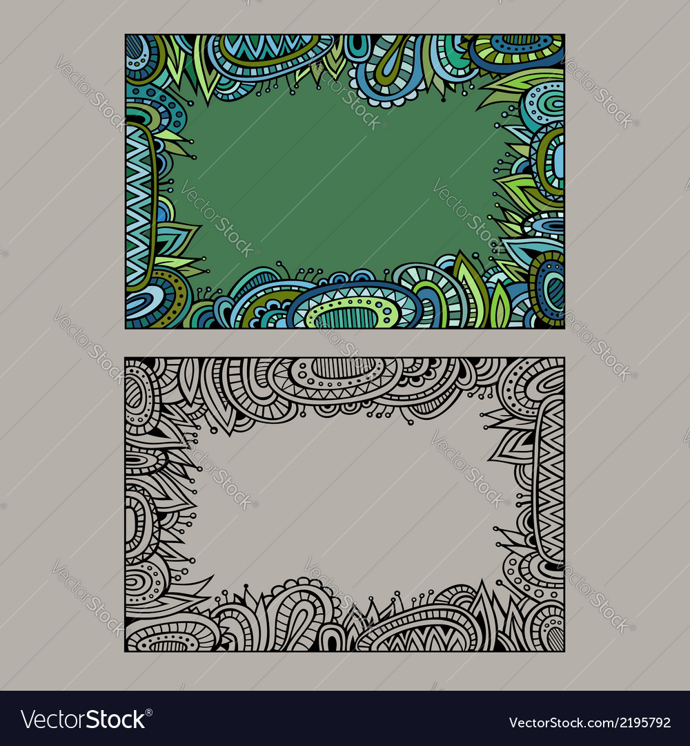 Abstract decorative ethnic border set vector image