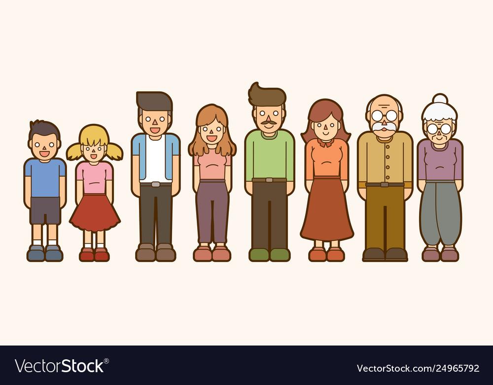 Family cartoon icon graphic