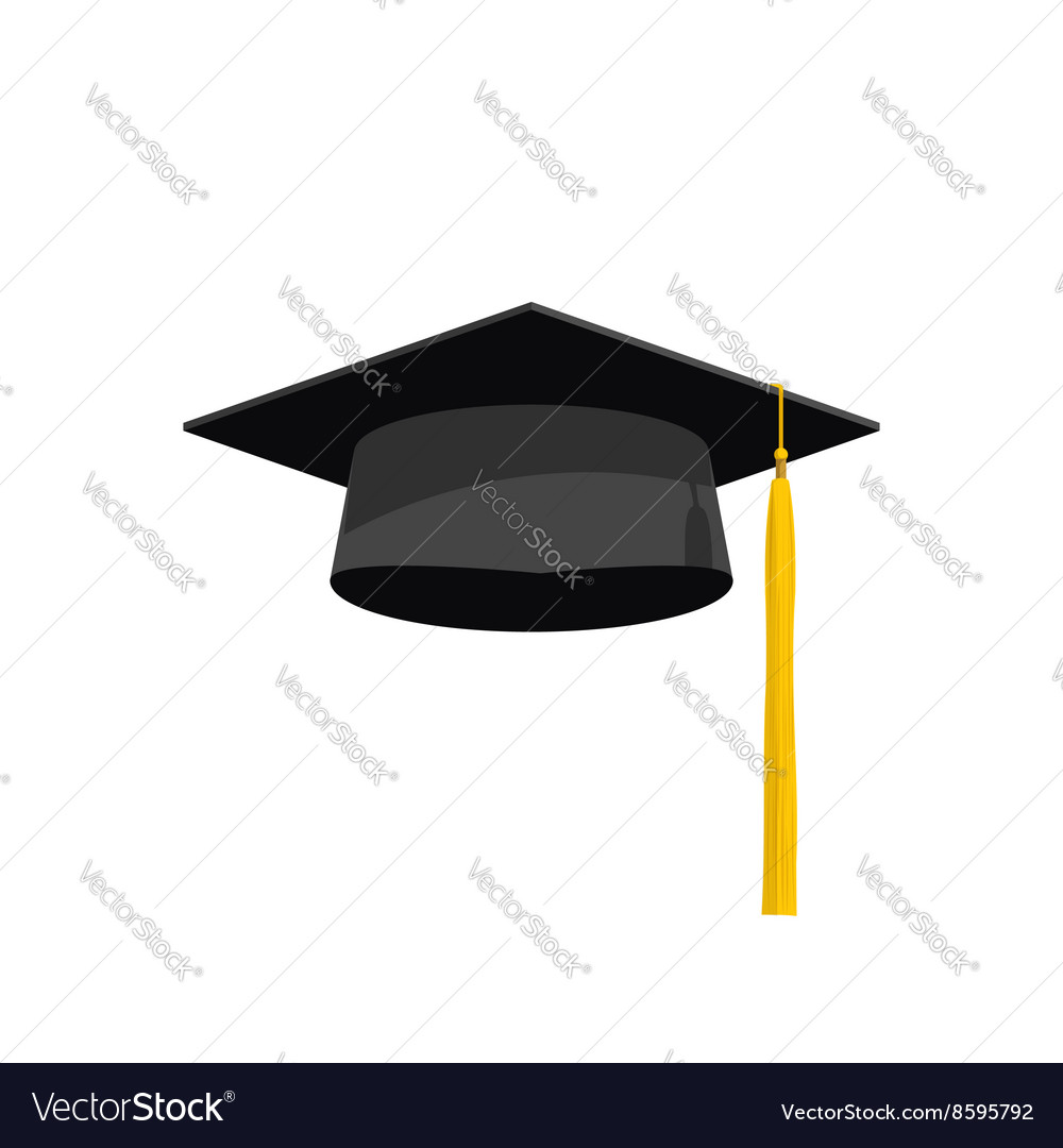graduation cap academy hat royalty free vector image rh vectorstock com graduation cap vector download graduation cap vector clip art free