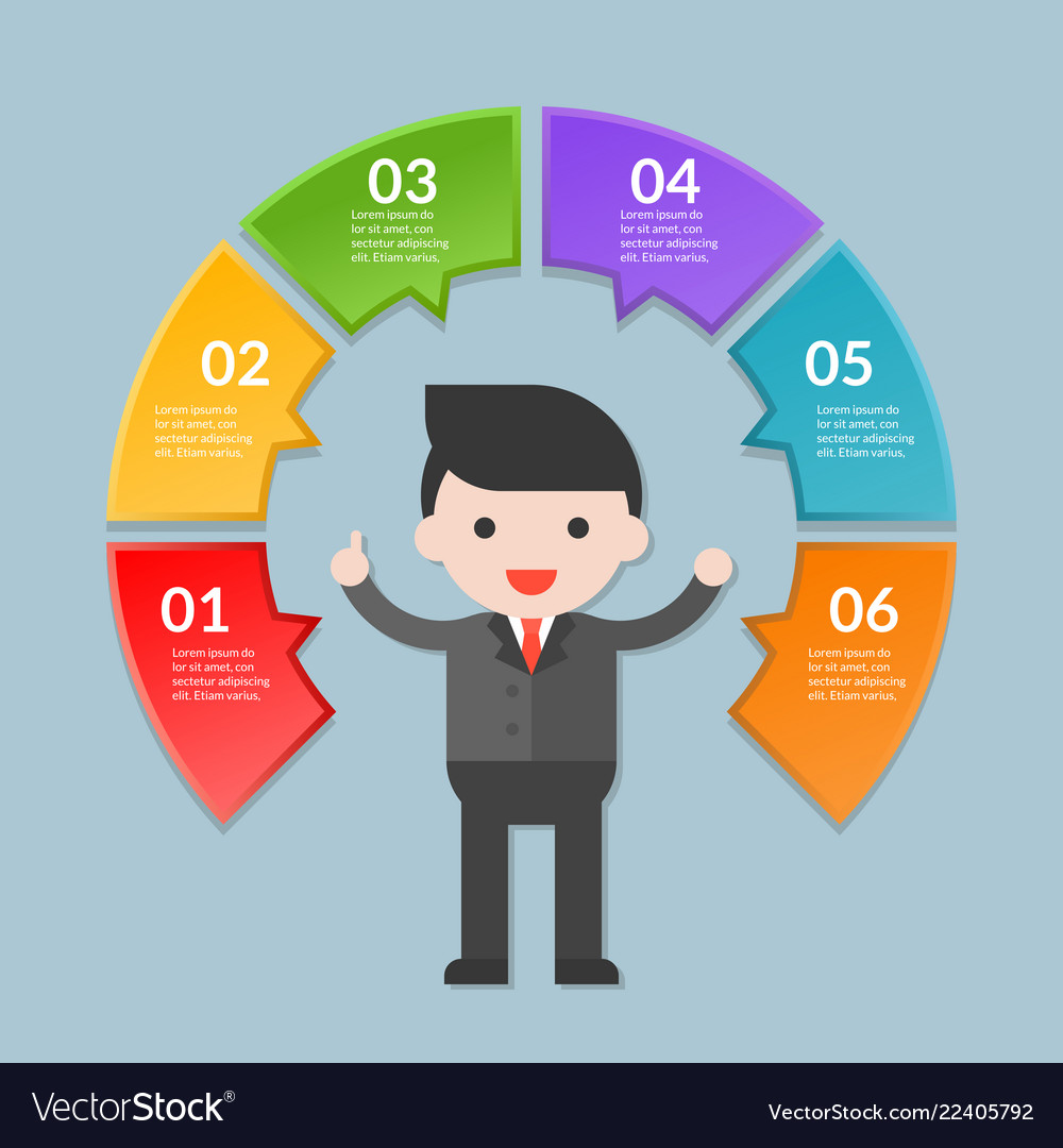 Infographic template step or workflow diagram
