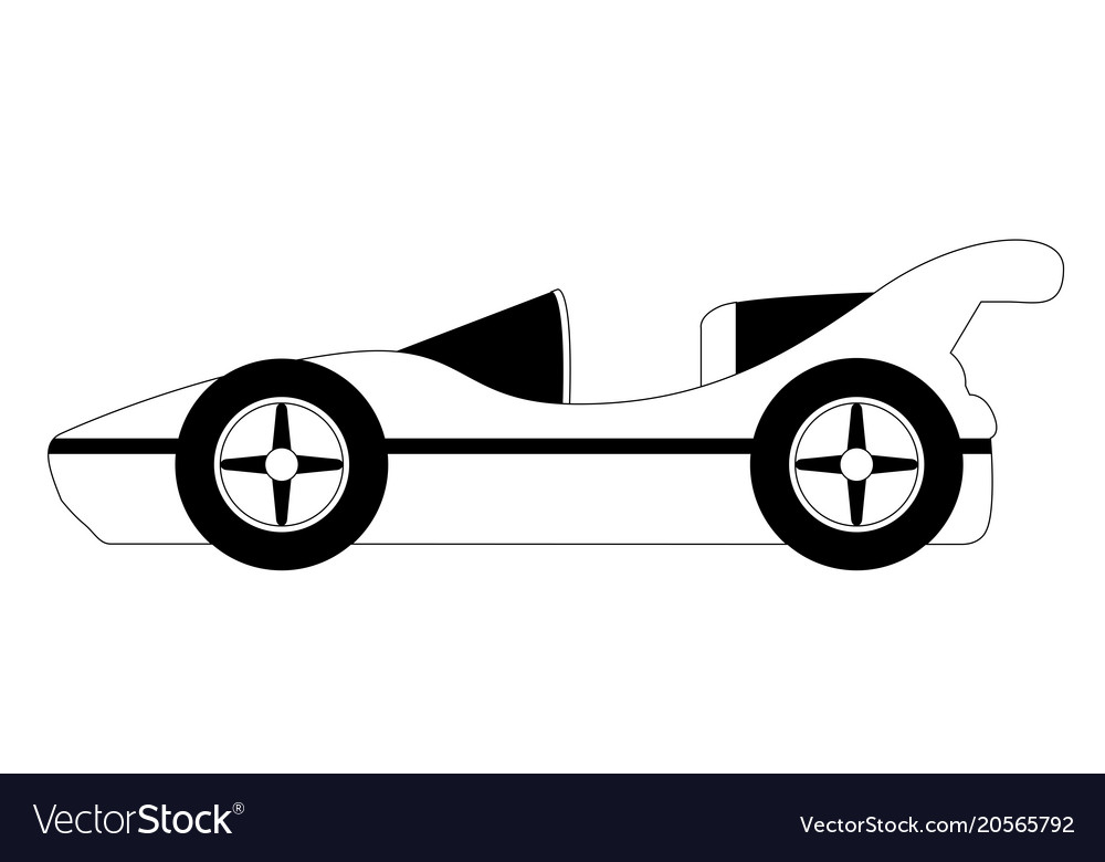 isolated old racing car icon royalty free vector image rh vectorstock com car icon vector png car icon vector free download