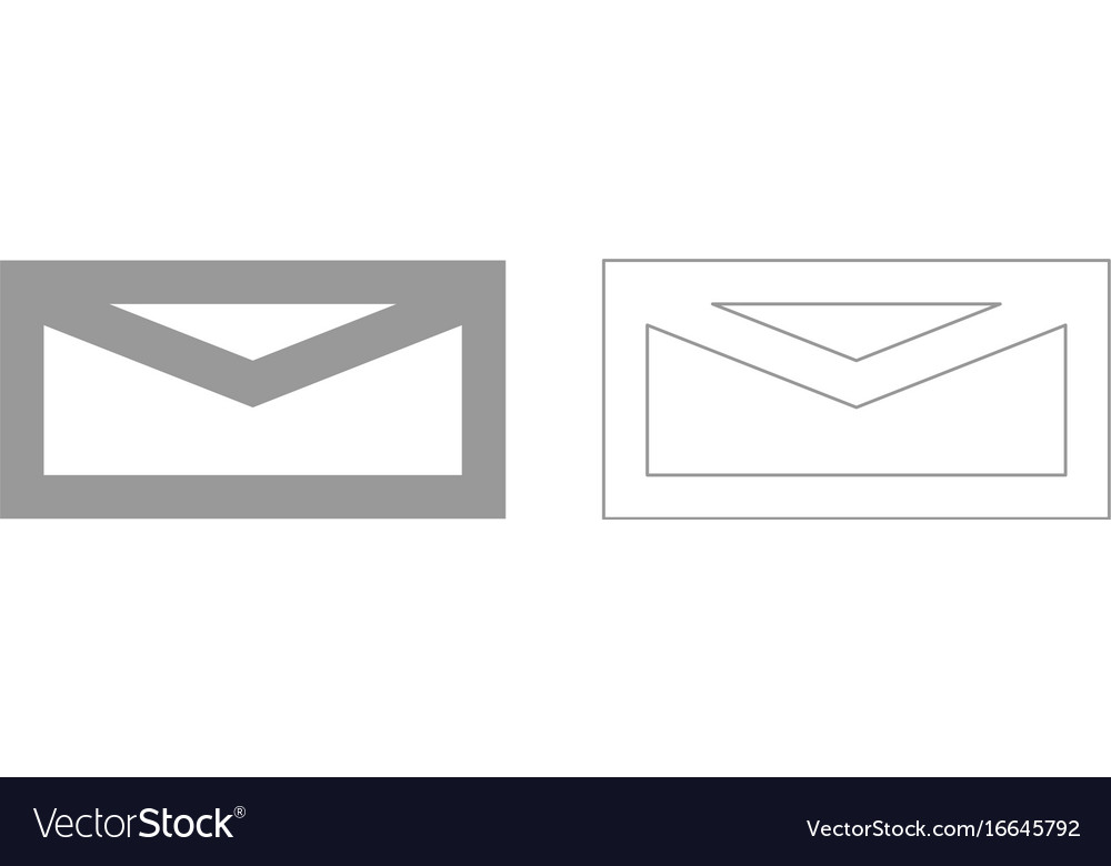 Mail grey set icon vector image