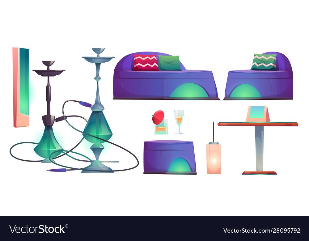 Shisha hookah bar set cafe for smoking stuff