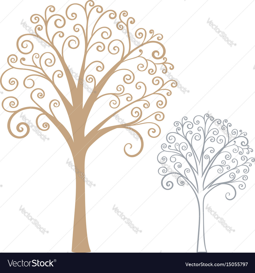 Abstract stylized tree