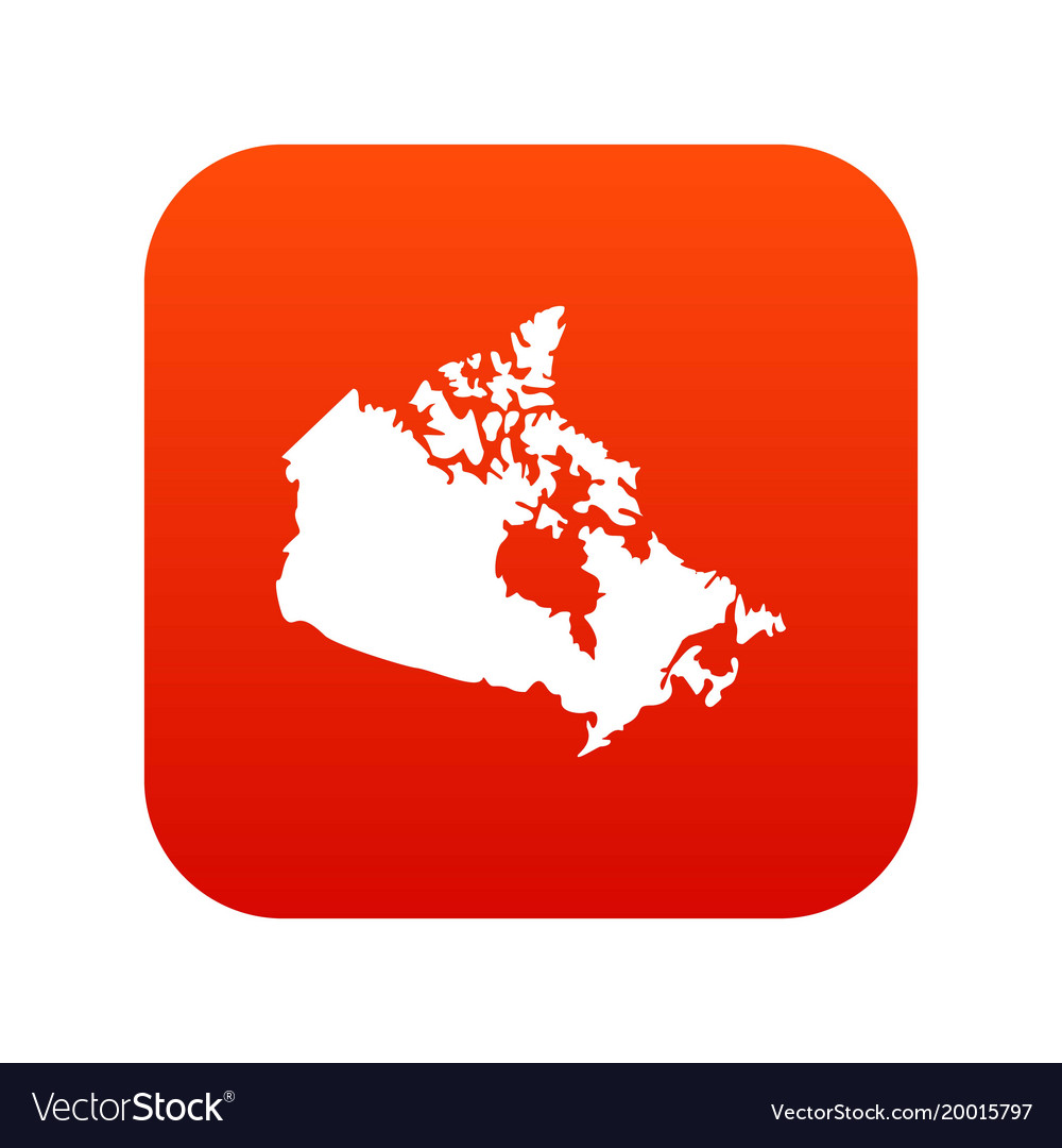 Map Of Canada Red.Canada Map Icon Digital Red