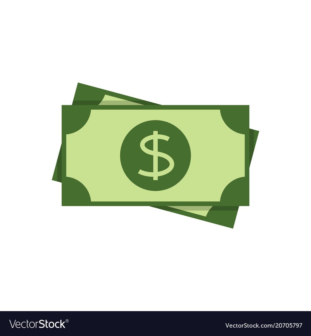 Dollar banknote flat icon