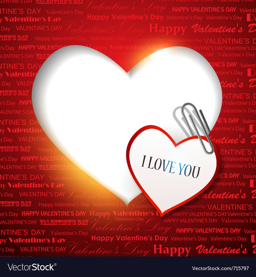 Gift Card Valentines Day Background Royalty Free Vector