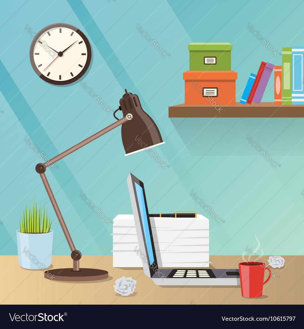 Modern creative workspace with work