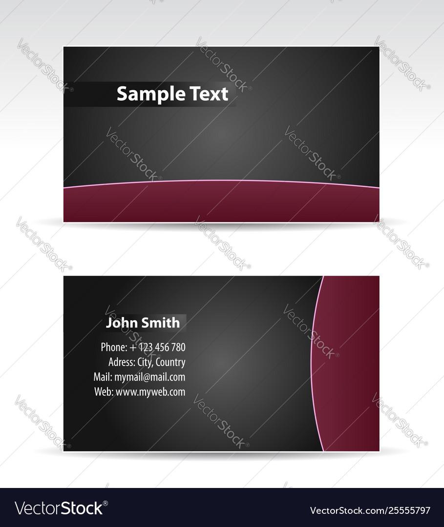 Purple balck business card