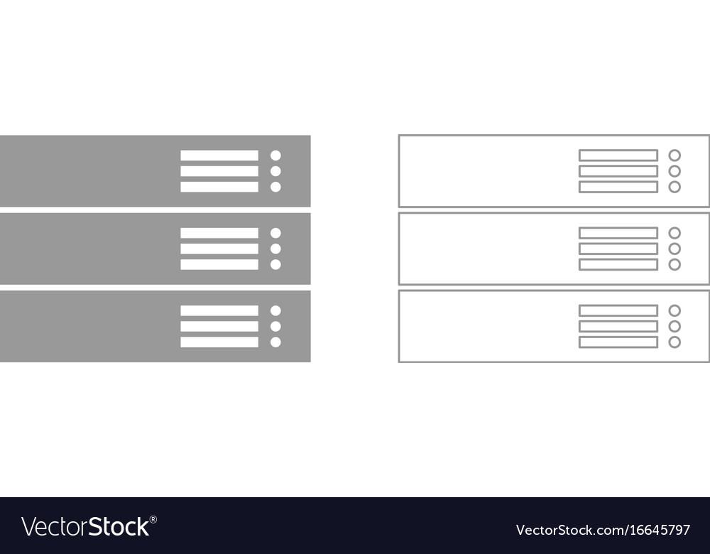 Server grey set icon