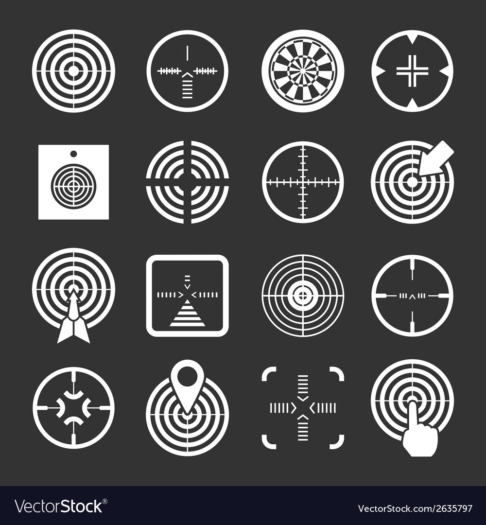 Set icons target and sights