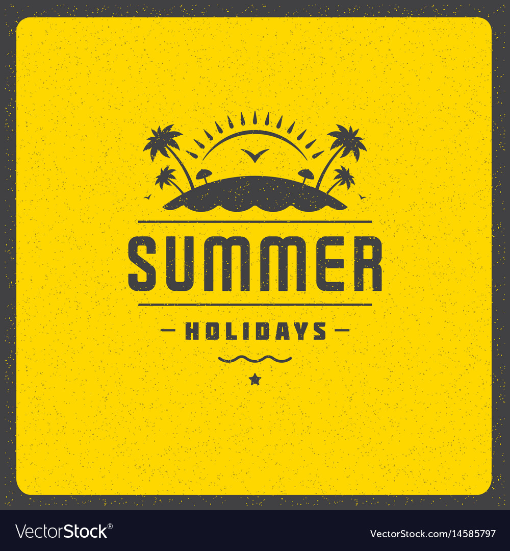 Summer holidays poster design on textured
