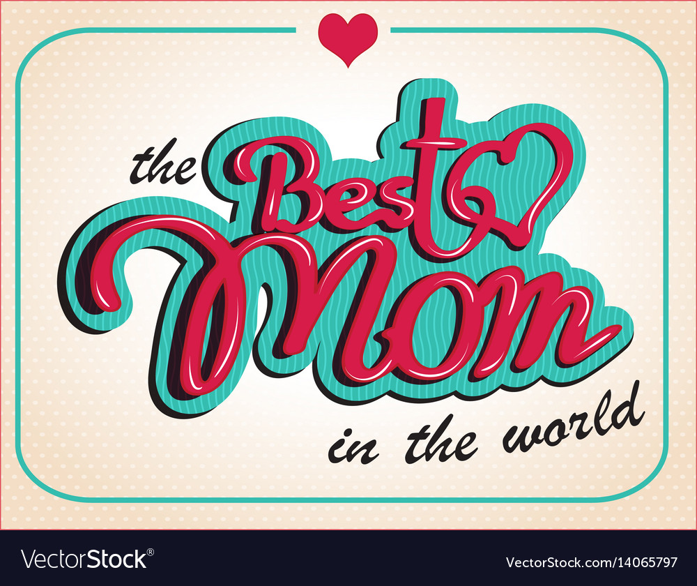 Vintage happy mothers s day gift card