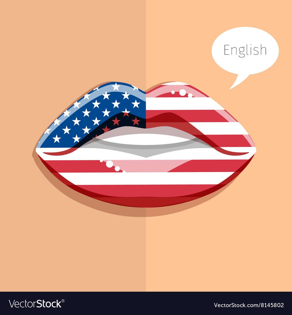 English american language concept vector image