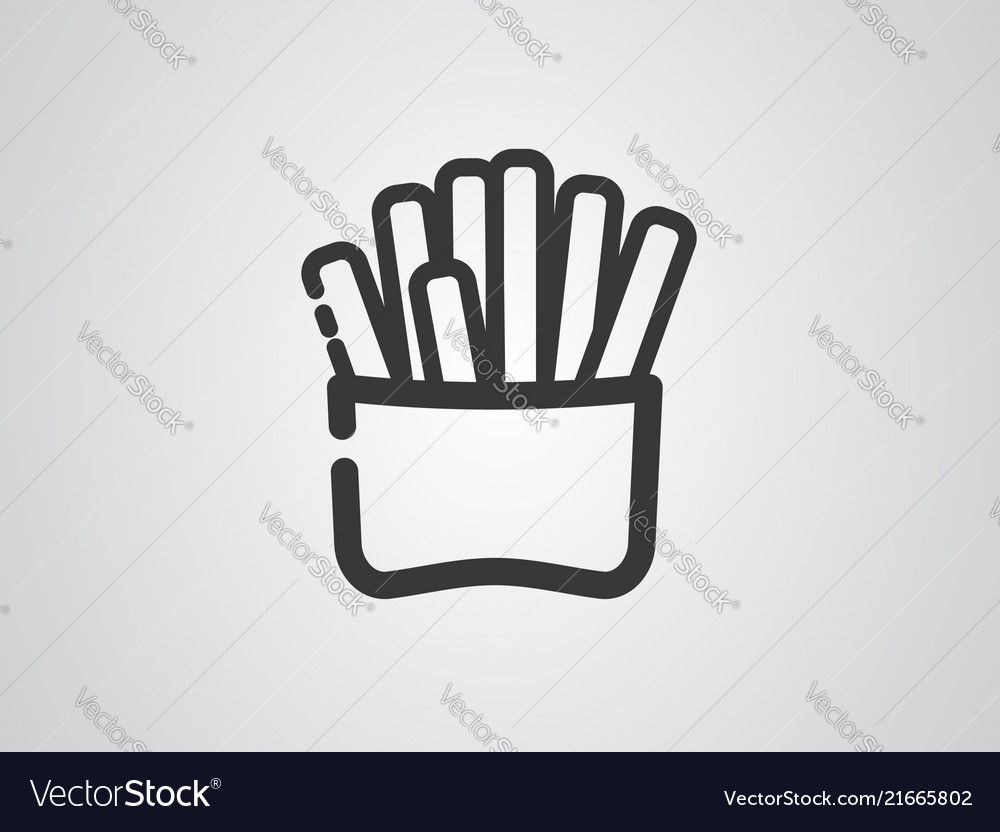 Fried potatoes icon sign symbol