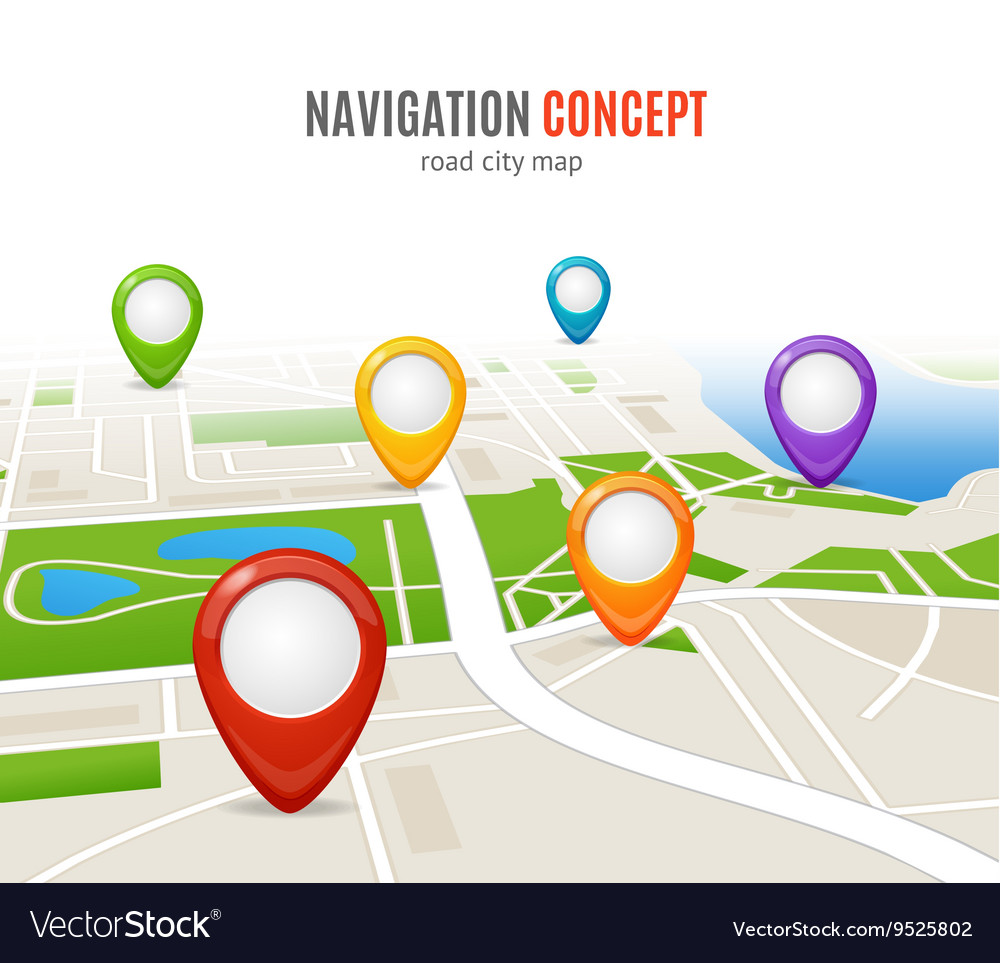 Navigation Concept Road City Map