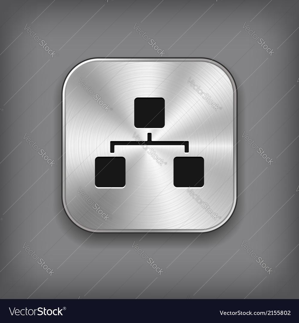 Network icon - metal app button