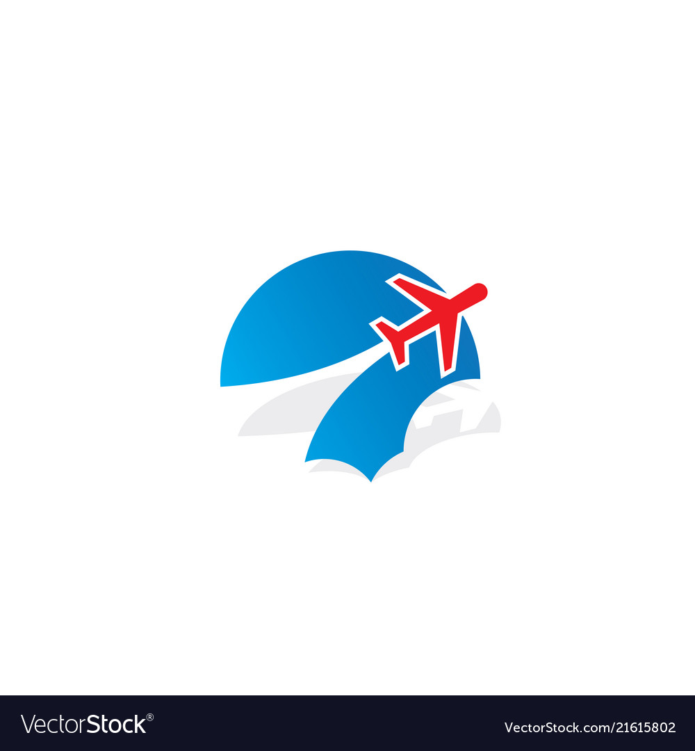 Plane cloud aero logo