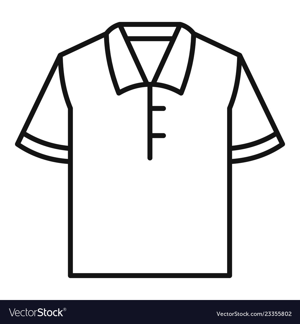 ec2fbcddd2bd7 Polo tshirt icon outline style Royalty Free Vector Image