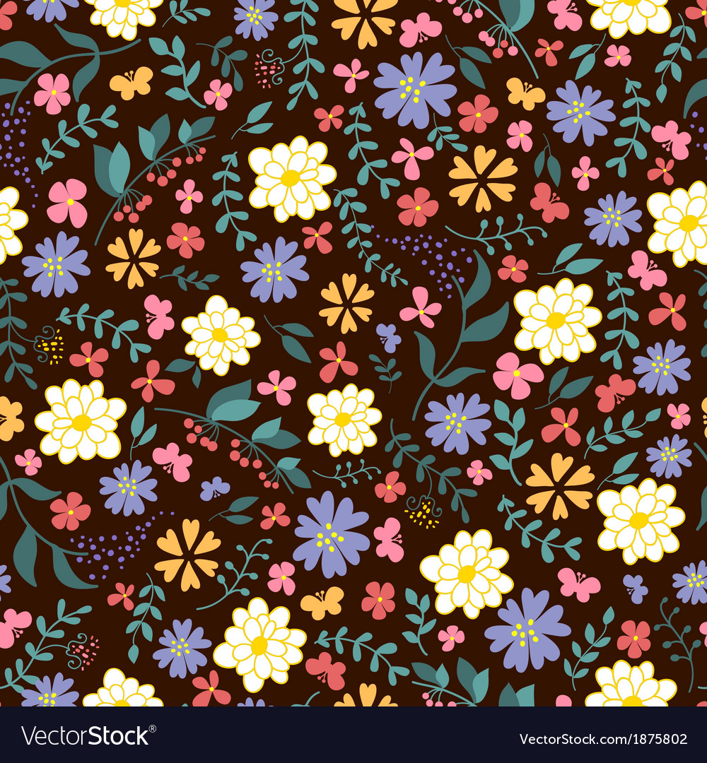 Seamless pattern from spring flowers
