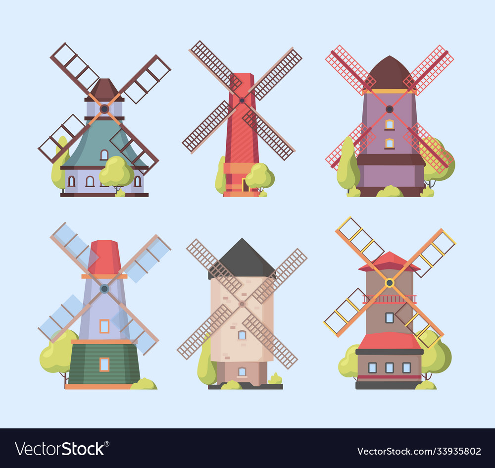 Windmill holland dutch authentic constructions