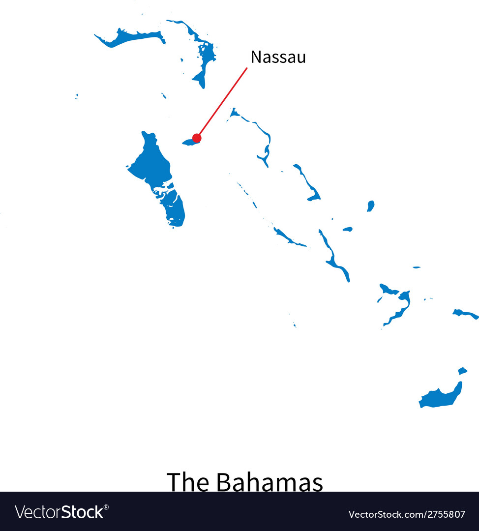 Detailed map of Bahamas and capital city Nassau