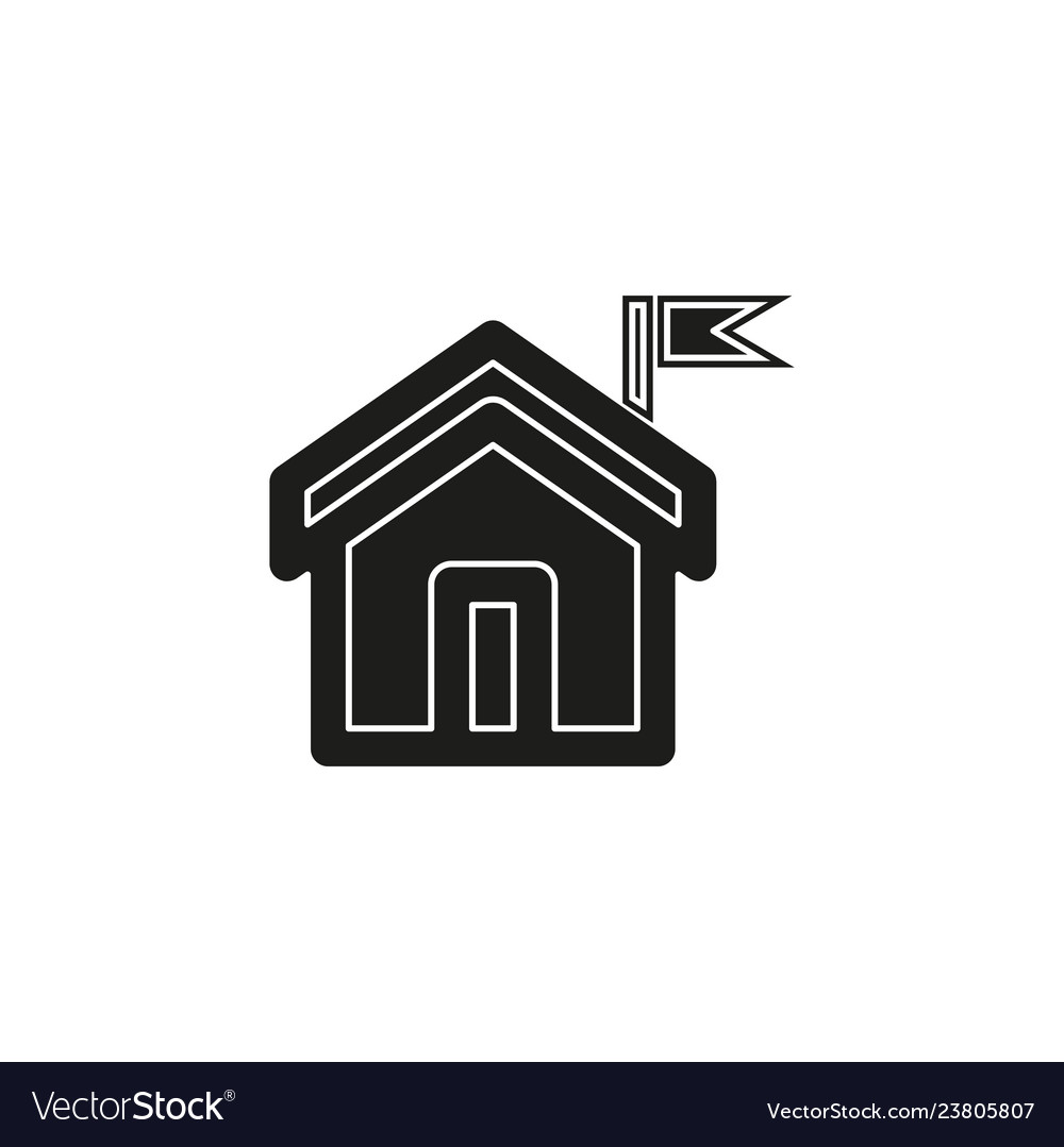 Home icon real estate house residential symbol