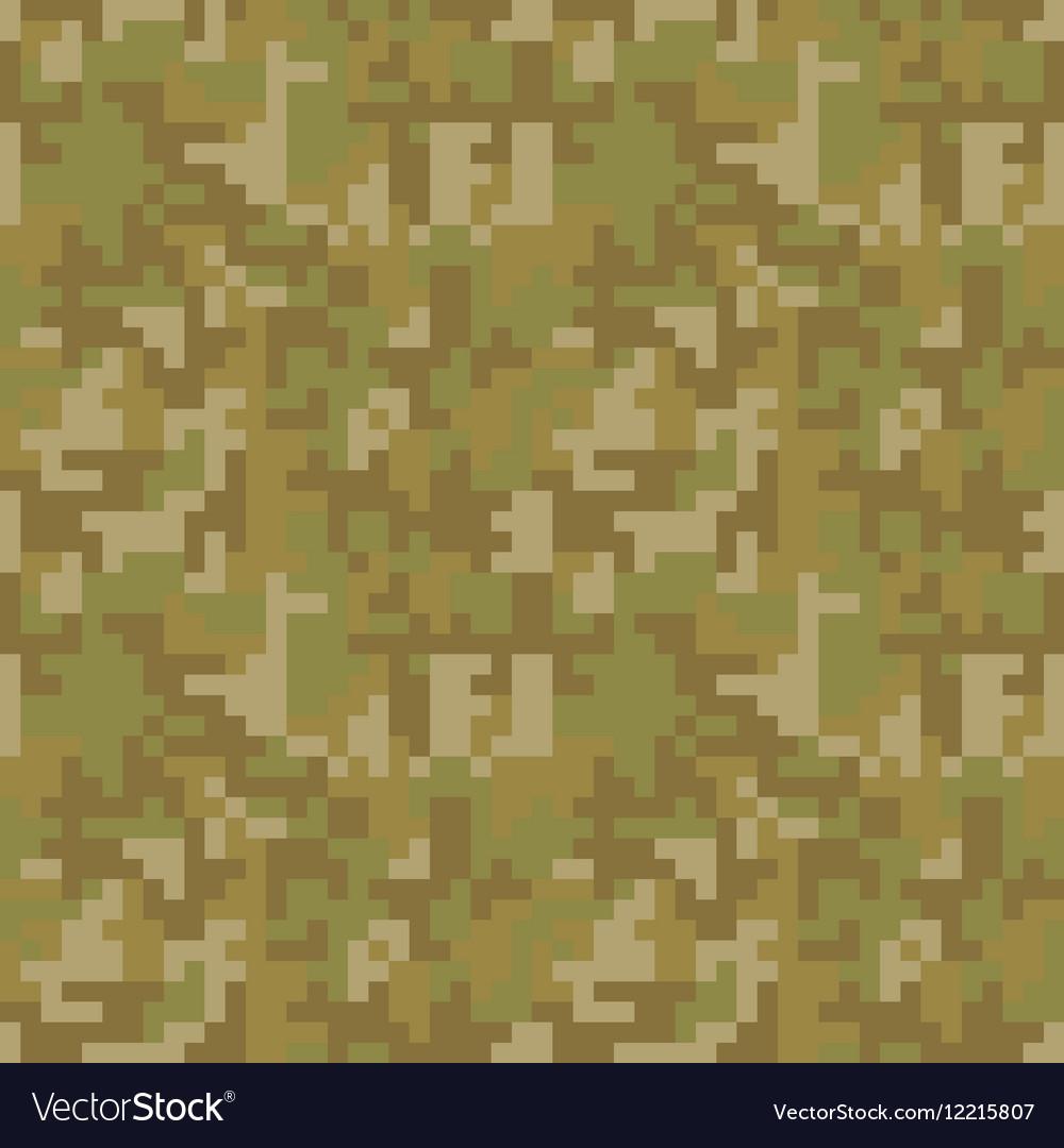 Pixel camo seamless pattern Brown desert or