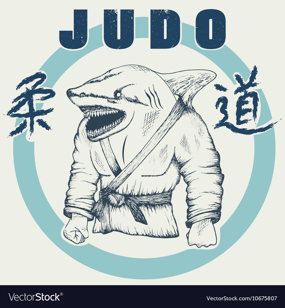 Shark practicing judo